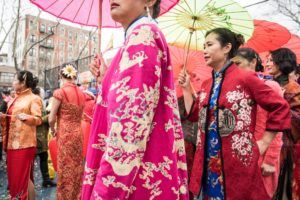 Women in traditional clothing from the South of China